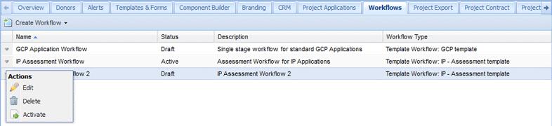 Manage Workflows